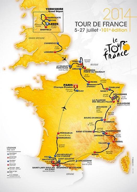 OFFICIAL 2014 TOUR DE FRANCE ROUTE