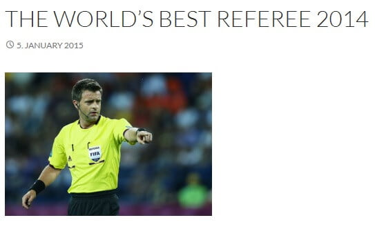 NICOLA RIZZOLI IS THE WORLD'S BEST REFEREE 2014