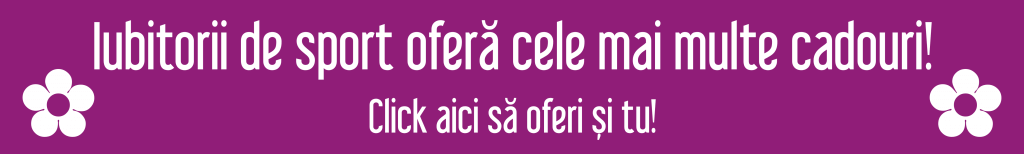 Sportul unește oamenii – Cadoria la mulți ani, cătălina ponor! La mulți ani, Cătălina Ponor! Iubitorii de sport ofera cele mai multe cadouri 1024x154