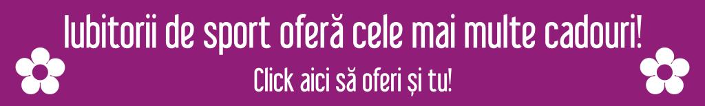 Sportul unește oamenii – Cadoria Ministrul Dunca a întâmpinat Delegaţia României la Jocurile Francofoniei la care România a obţinut 31 de medalii Ministrul Dunca a întâmpinat Delegaţia României la Jocurile Francofoniei la care România a obţinut 31 de medalii Iubitorii de sport ofera cele mai multe cadouri 1024x154