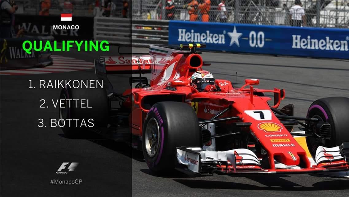 Raikkonen a obţinut pole-positionul în Marele Premiu al statului Monaco Raikkonen a obţinut pole-positionul în Marele Premiu al statului Monaco FB IMG 1495890291725