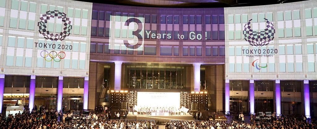 trei ani până la ceremonia de deschidere a jocurilor olimpice tokyo 2020 Trei ani până la Ceremonia de Deschidere a Jocurilor Olimpice Tokyo 2020 Piata Shinjuku