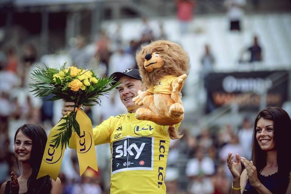 Chris Froome la 103 kilometri de al patrulea Tur al Franței Chris Froome la 103 kilometri de al patrulea Tur al Franței froome foto facebook